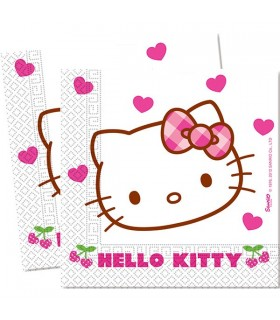 Serviette anniversaire Hello kitty en papier