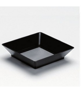 Verrine à cocktail Noire Plate 6,5cm (x25)