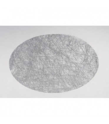 Set de Table Rond Brillance gris Argent