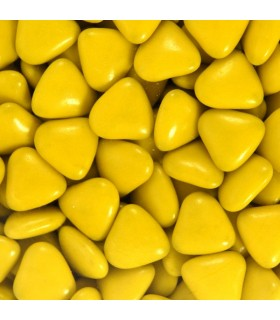 Dragées Mini Coeur Jaune Bouton d'Or