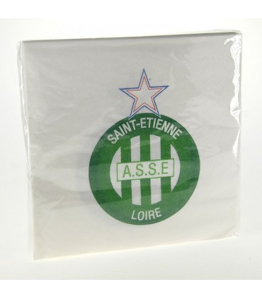 Serviette jetable football ASSE